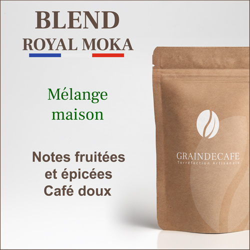 Café moulu | Blend Royal Moka 100 % arabica : 250 Gr