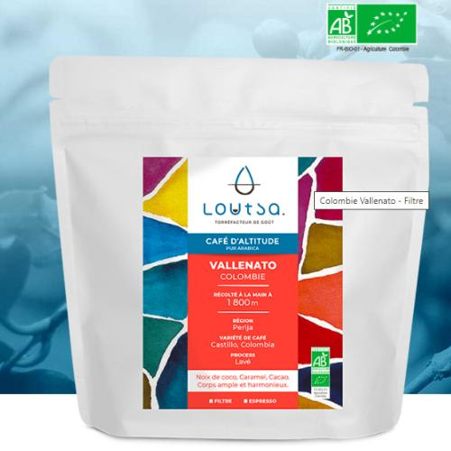 Café LOUTSA : Colombie Vallenato - Torréfaction Filtre ou  slow coffee - 250 Gr