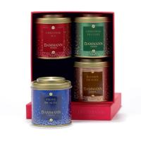 Coffret Season's Greating Dammann - 4 boites 30 Gr