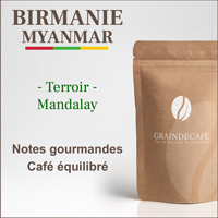 Café moulu | Birmanie - Myanmar Shan Estate : 250 Gr