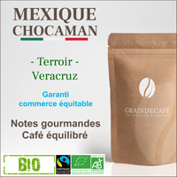 Café en grain | Mexique Chocaman BIO Equitable : 250 Gr