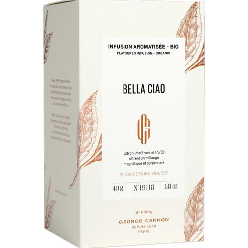 BELLA CIAO - Infusion aromatisée Bio - 20 sachets | GEORGE CANNON