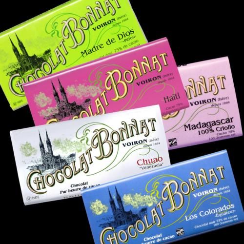 Assortiment Chocolat BONNAT grands crus x5