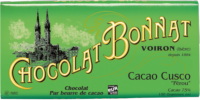 Tablette Chocolat Bonnat Pérou Cusco